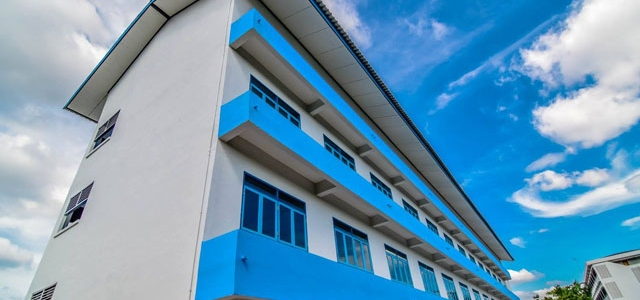 อาคาร4 เป็นอาคารใหม่ล่าสุดของโรงเรียนแสนสุข